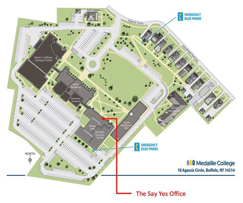 Medaille Buffalo Campus Map - Say Yes Office Location