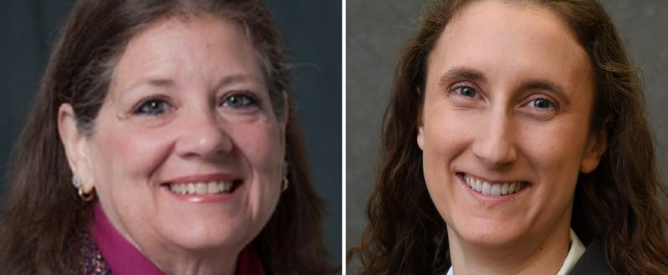 Dr. Lori V. Quigley (left) and Dr. Jennifer Sharples Reichenberg (right)