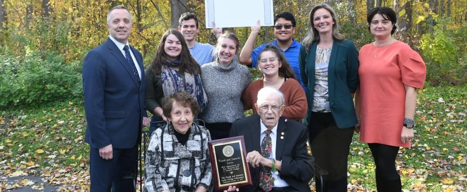 Frank and Jeanette Levin With Medaille President, Faculty and Students