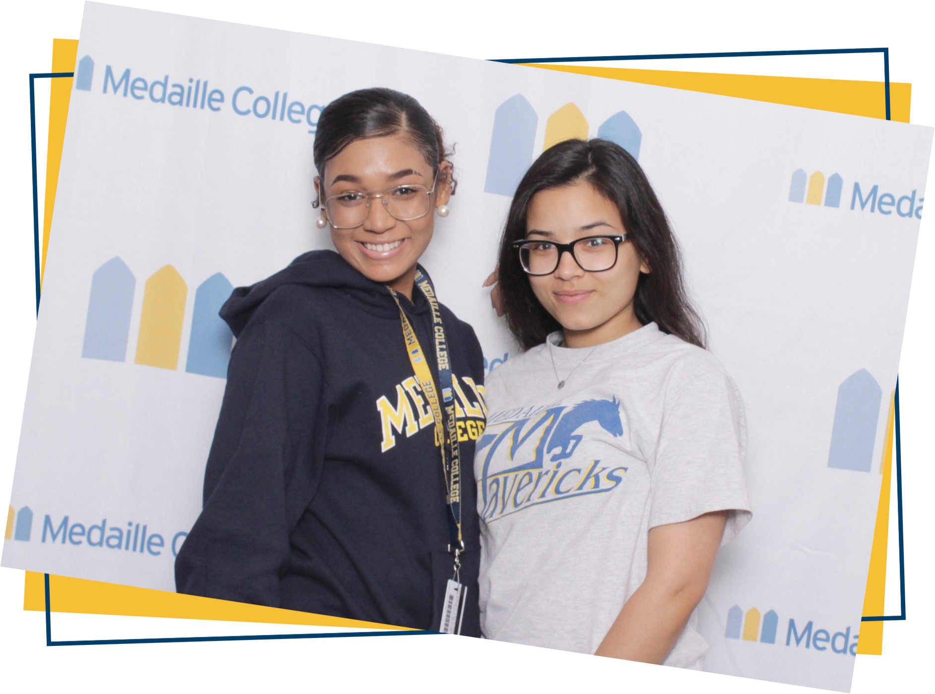 Two Female Medaille Students.
